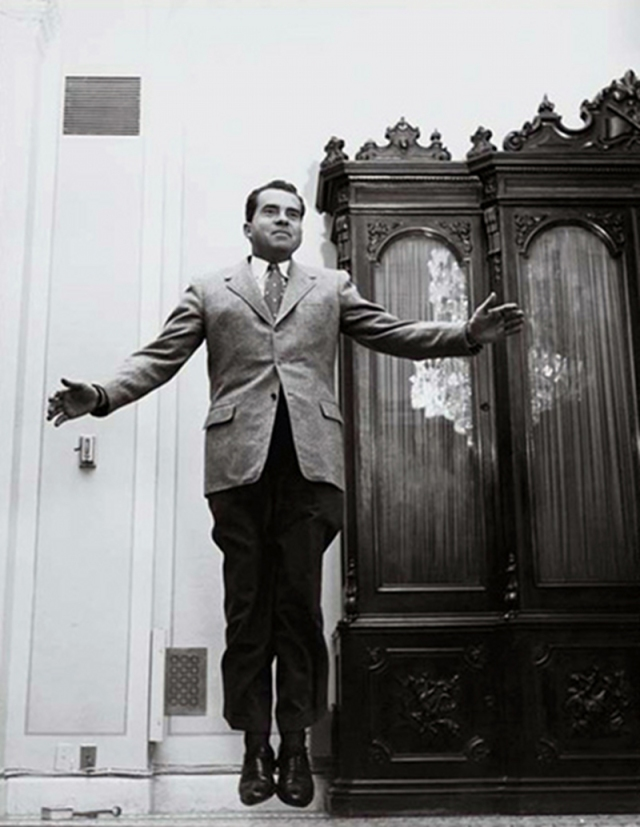 Richard Nixon (1955) by Philippe Halsman