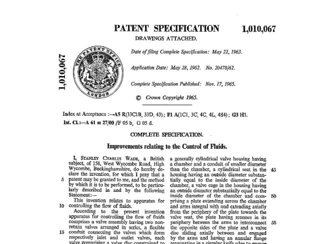 British patent of the WDT-shunt
