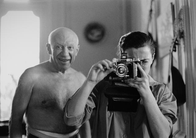 Pablo Picasso and Jacqueline Roque (Villa La Californie, 1957) by David Douglas Duncan