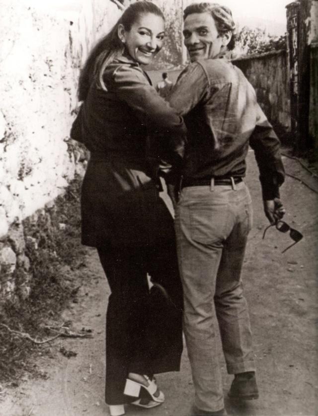 Callas with Pasolini