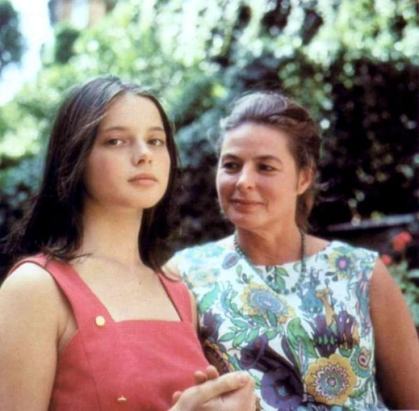 Ingrid Bergman with Isabella Rossellini