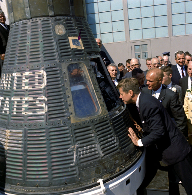 JFK with Space Capsule