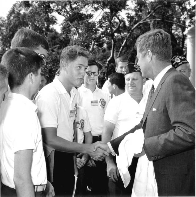 Bill Clinton with JFK