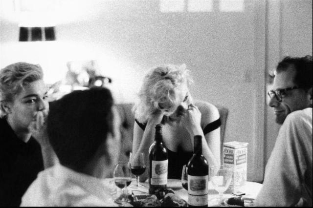 Yves Montand, Marilyn Monroe, Arthur Miller, Simone Signoret