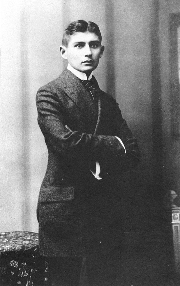 Franz Kafka at the age of 23 (photograph by Atelier Jacobi, 1906)