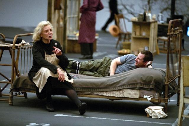 Lars von Trier and Lauren Bacall
