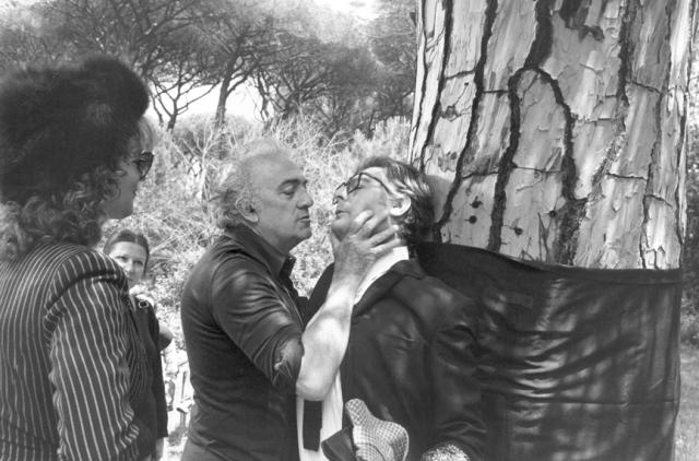 Federico Fellini and Marcello Mastroianni