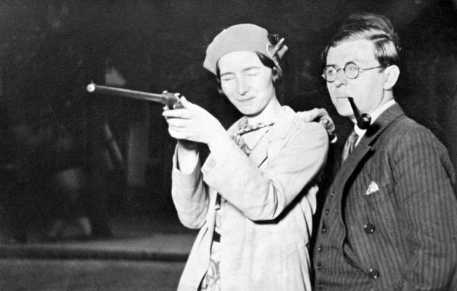 Simone de Beauvoir with Jean-Paul Sartre
