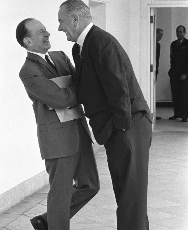 Lyndon Johnson with Abe Fortas