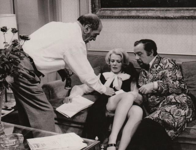 Luis Buñuel, Delphine Seyrig and Fernando Rey