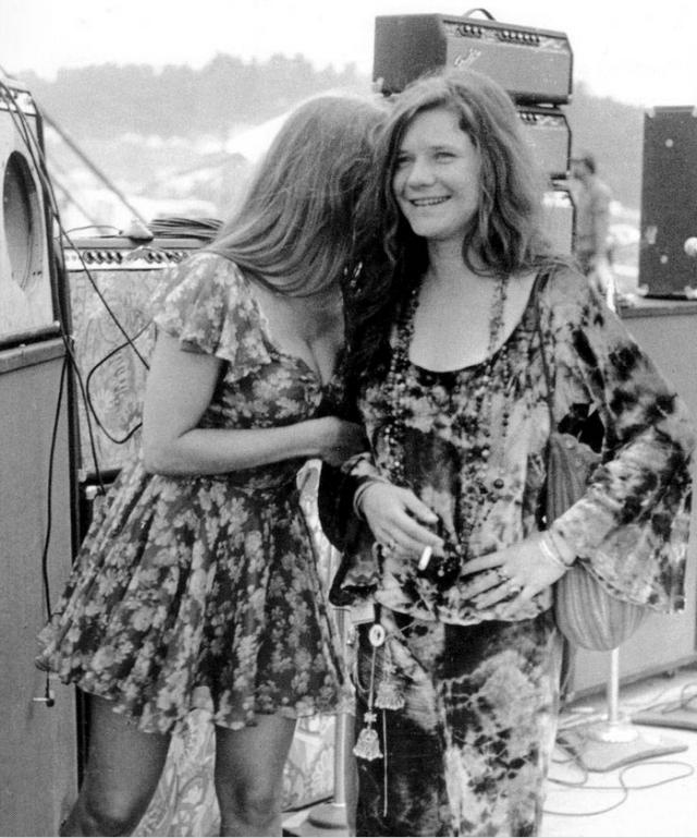 Janis Joplin with Peggy Caserta
