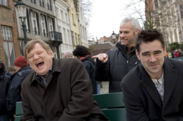 Martin McDonagh with Colin Farrell and Brendan Gleeson