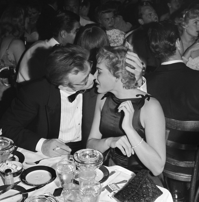 Ursula Andress and James Dean (1955)