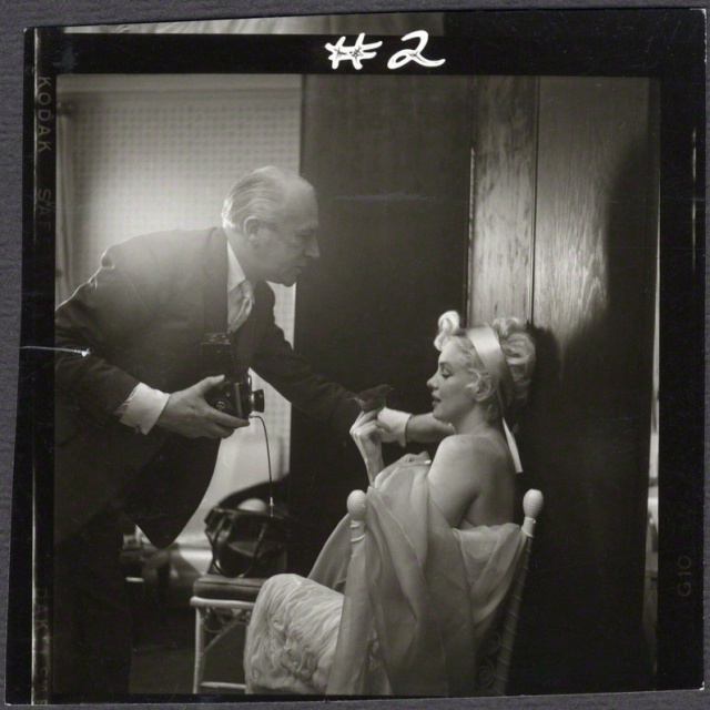 Cecil Beaton and Marilyn Monroe