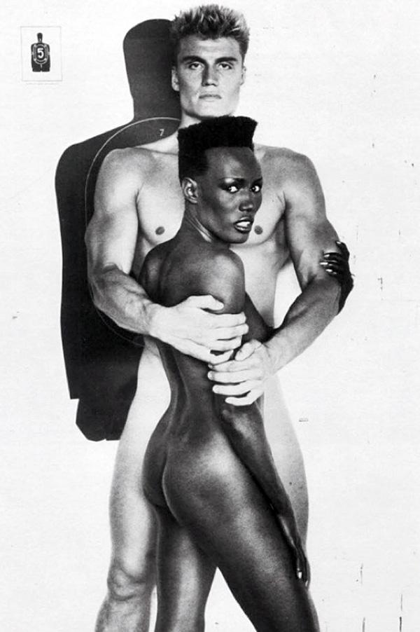 Grace Jones with Dolph Lundgren
