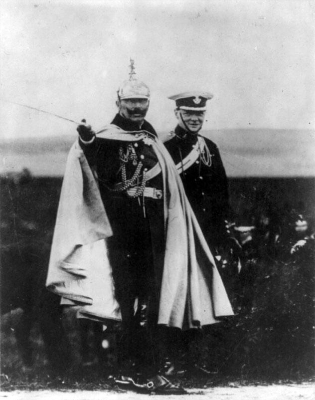 Kaiser Willhelm II and Winston Churchill