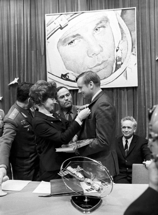 Valentina Tereshkova and Neil Armstrong