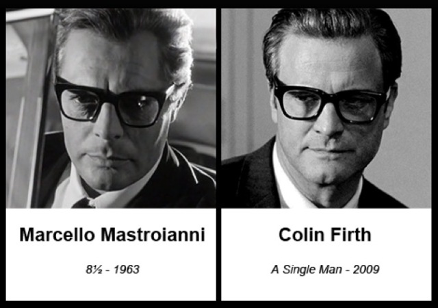 Marcello Mastroianni and Colin Firth