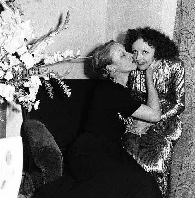 Marlene Dietrich with Edith Piaf