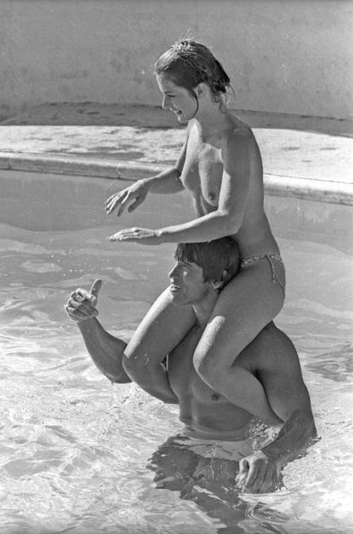Nastassja Kinski with Arnold Schwarzenegger