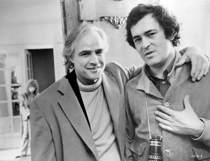 Marlon Brando and Bernardo Bertolucci