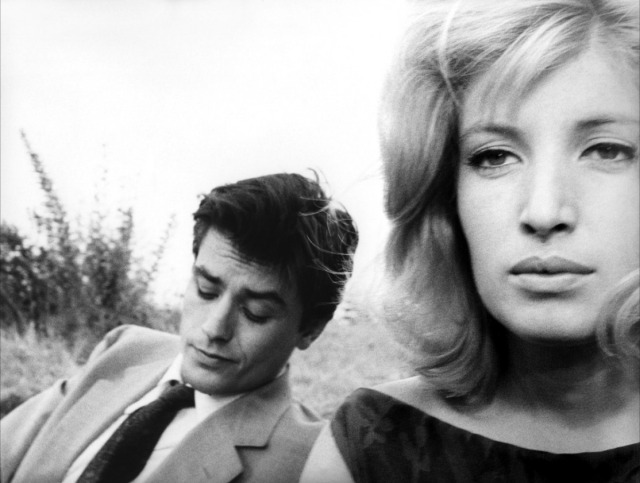 Monica Vitti with Alain Delon