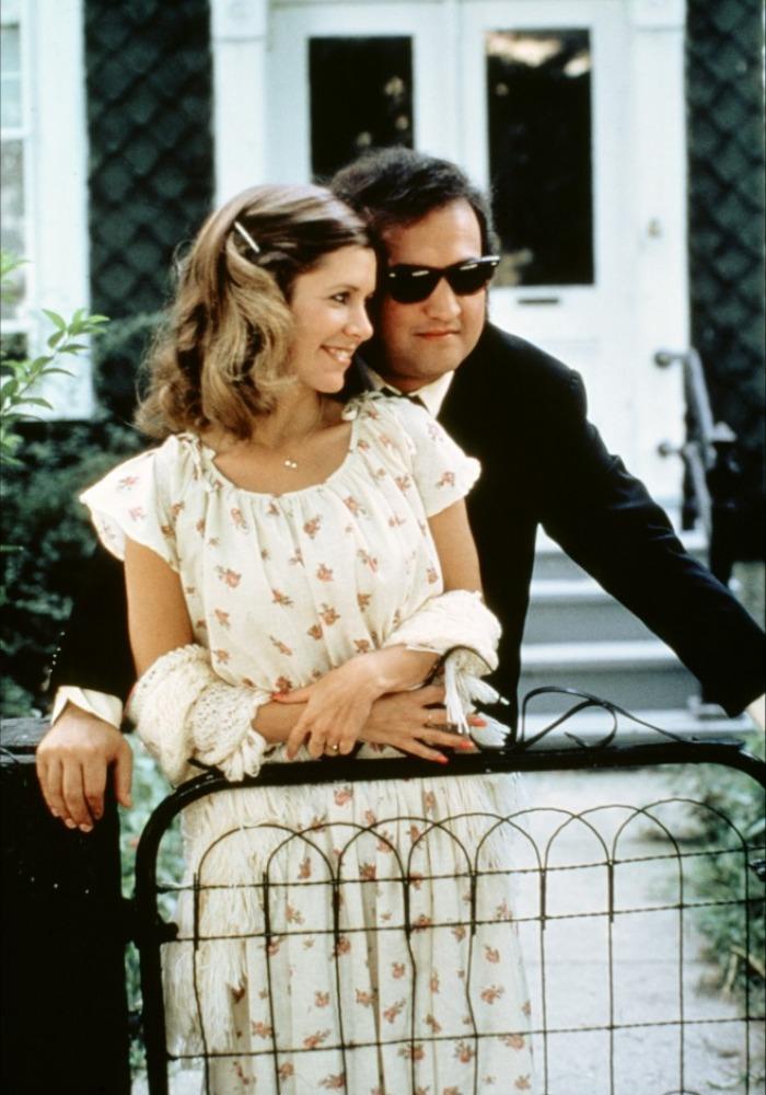 John Belushi and Carrie Fisher